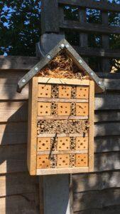 Bee house in the garden